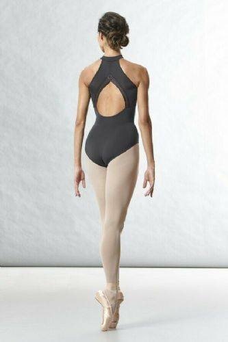 BLOCH Ladies Dance Zip Front High Neck Open Mesh Motif Back Leotard L8745 Rhode